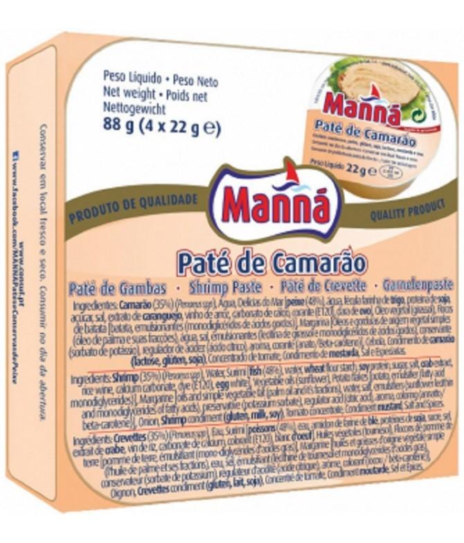 Manná Paté de Camarão4X22 gr