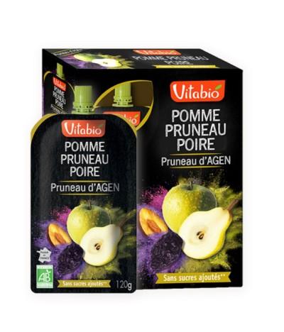 Vitabio Snack Fruta Maçã Ameixa & Pêra 4x120gr