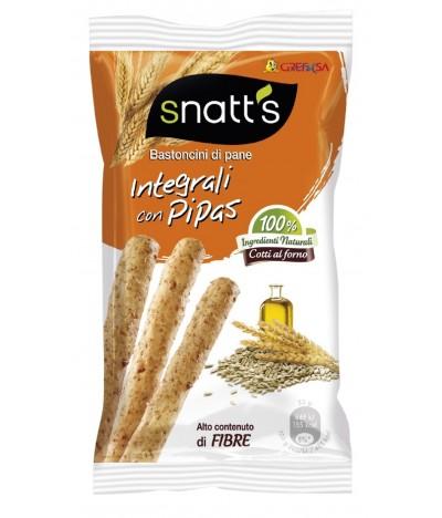 Snatts Palitos de Pão Integral & Pipas 35gr