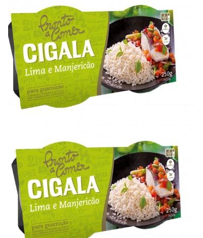 PACK 2 Cigala Pronto a Comer Arroz Lima & Manjericão 2x125gr