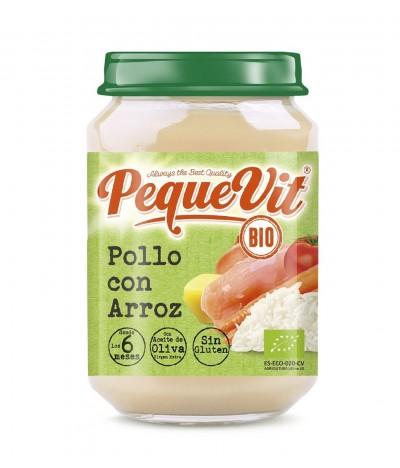 Pequevit Tarrito Pollo & Arroz BIO SIN GLUTEN 200gr