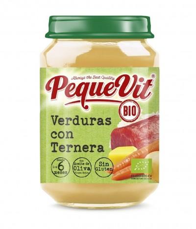 Pequevit Tarrito Verduras & Ternera BIO SIN GLUTEN 200gr