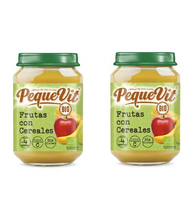 PACK 2 Pequevit Boião Frutas & Cereais BIO SEM GLÚTEN 200gr