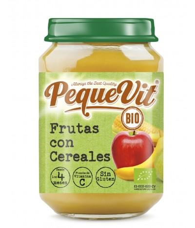 Pequevit Tarrito Frutas & Cereales BIO SIN GLUTEN 200gr