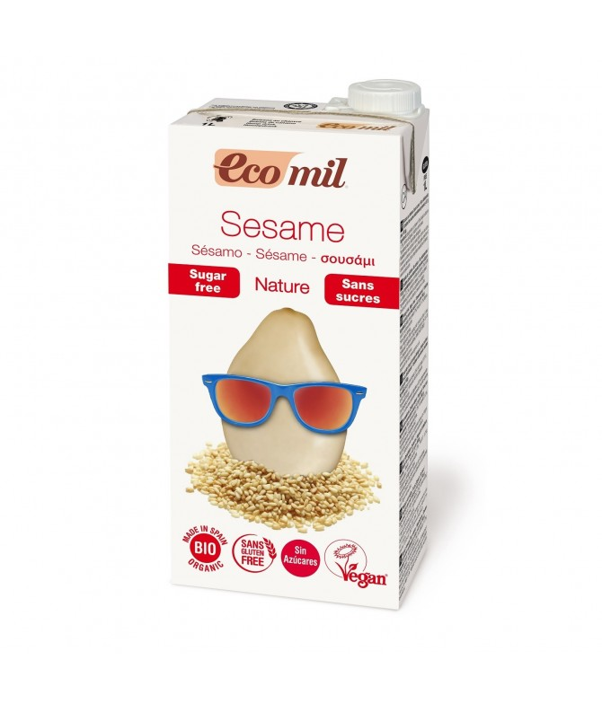 EcoMil Bebida de Sésamo BIO 0% Açúcar SEM GLÚTEN 1L