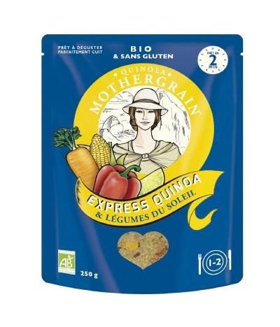 MotherGrain Express Quinoa & Vegetais BIO 250gr