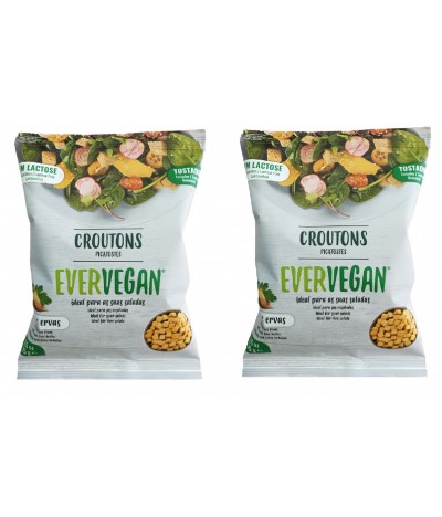 PACK 2 Evervegan Croutons Alho & Ervas SEM LACTOSE 2x75gr