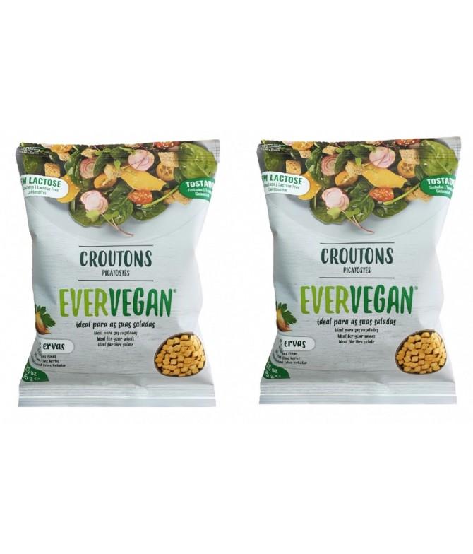 Pack 2 Evervegan Picatostes Ajo & Hierbas SIN LACTOSA 75gr