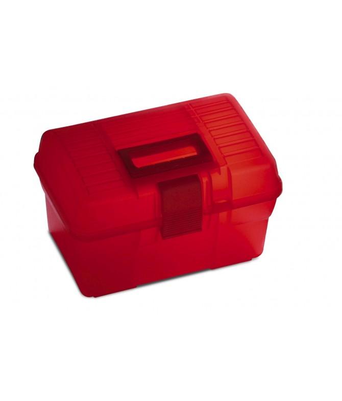 Caja de Plástico Resistente Multiusos ROJA 17x29x18 cm