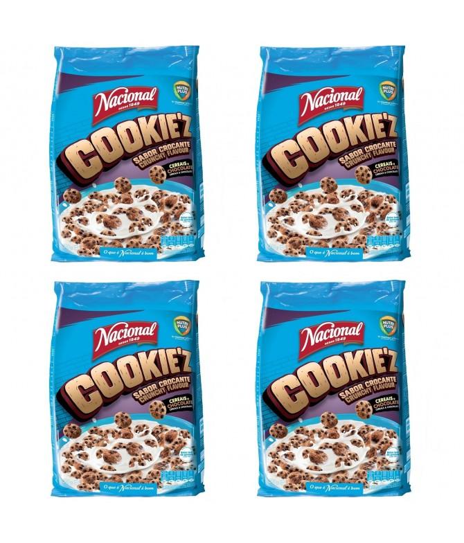 PACK FAMÍLIA 4 Nacional Cereais CookieZ 500gr