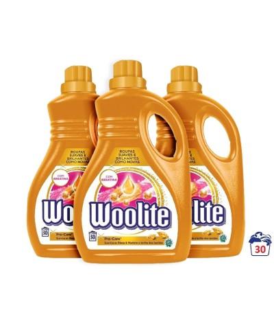 PACK FAMILIA 3 Woolite Detergente Ropa Líquido Pro-Care 30d