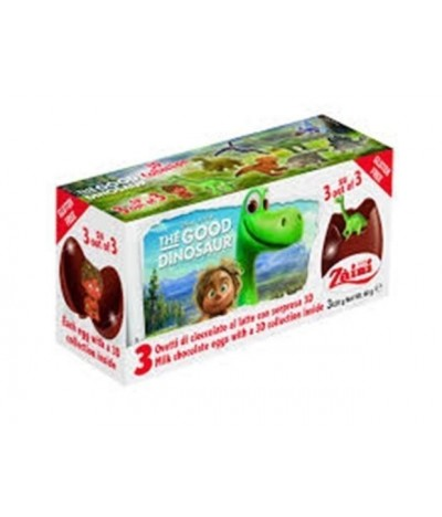 Huevos de Chocolate Good DinosaurTripack SIN GLUTEN Disney 3X20gr