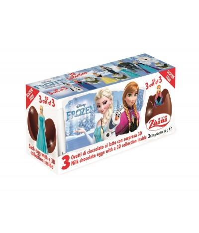 Ovos de Chocolate de Leite Disney Frozen Tripack
