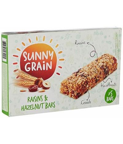 Sunny Grain Barritas Cereais Avelã & Passas 140gr