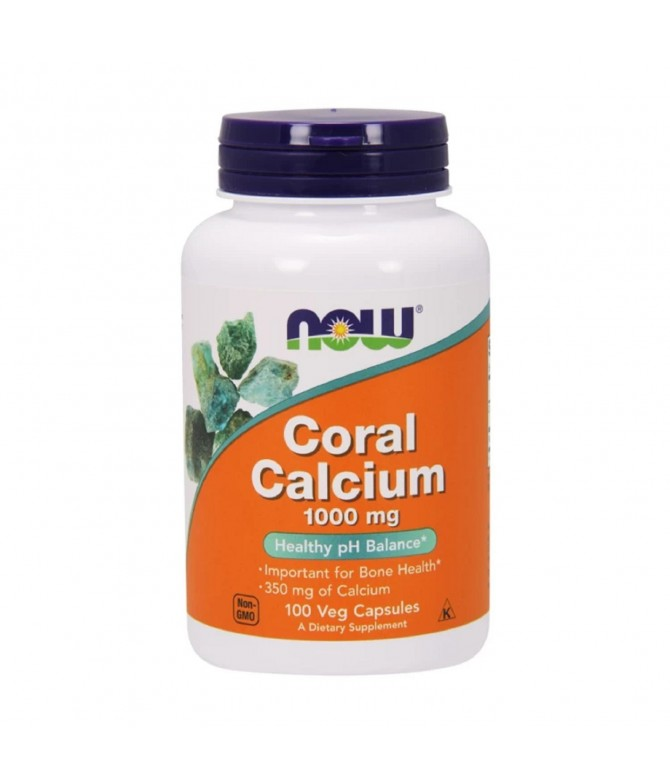 Now Suplemento Alimentar Coral Calcium PLUS OSTEOPOROSE 100un