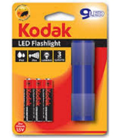 Kodak Lanterna LED Flashlight AZUL + 3 Pilhas AAA