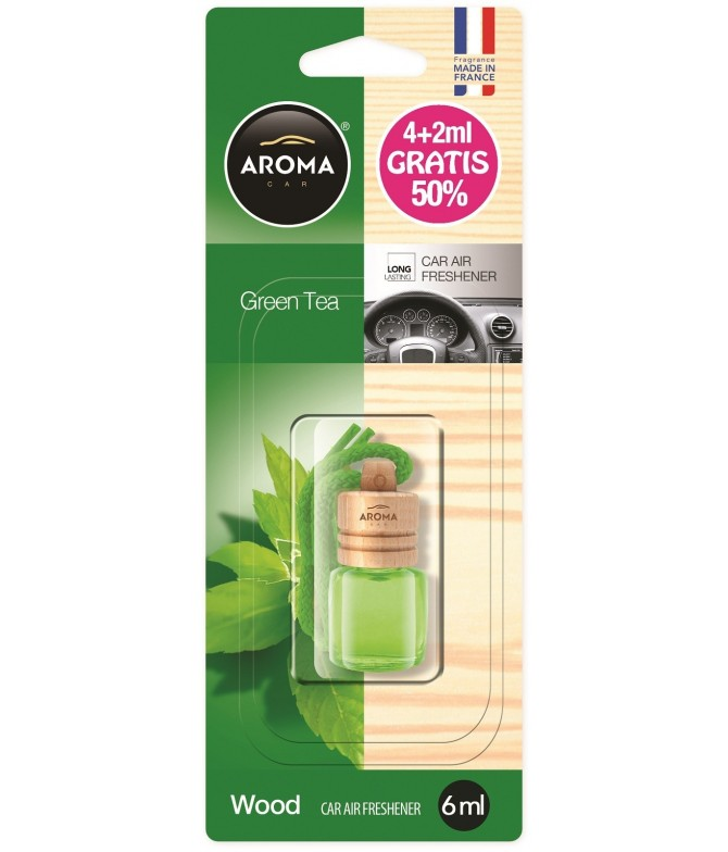 Aroma Car Ambientador Auto WOOD Green Tea 4ml+2ml