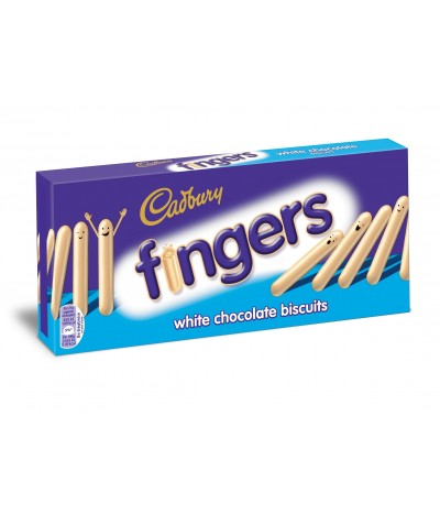 Bolachas Chocolate Branco Cadbury White Fingers