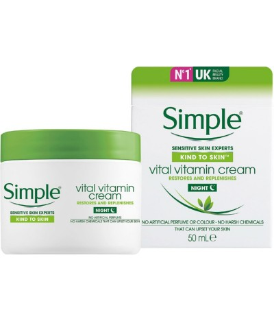 Simple Crema Facial Hidratante Noite 50ml
