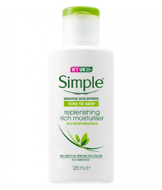 Simple Creme Facial Hidratante Rico 125ml
