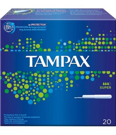 Tampax con Aplicador Super 20un