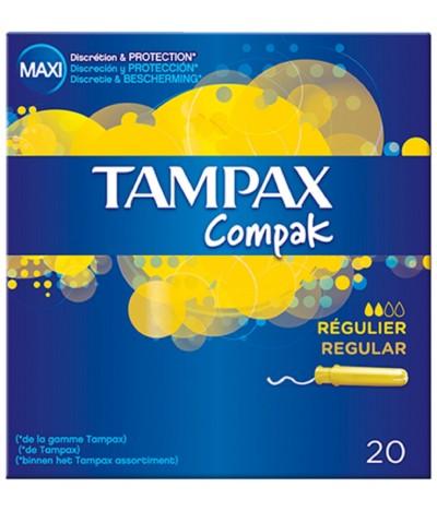 Tampax con Aplicador Compack Regular 20un