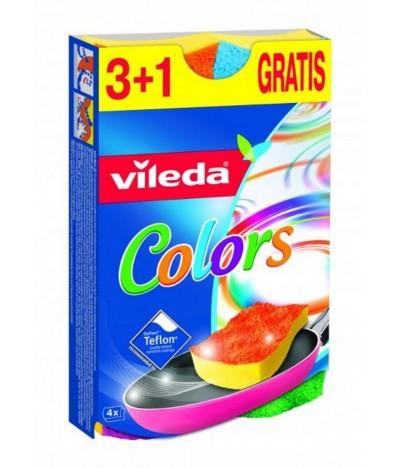 Vileda Colors Esfregão com Esponja 3+1 Grátis