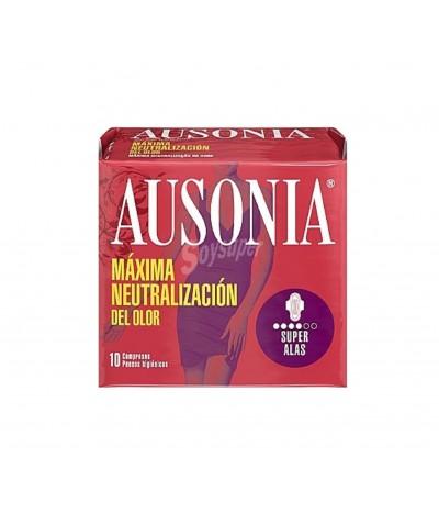Ausonia Air Dry Pensos Higiénicos Noite com Abas 10un