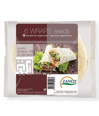 Zanuy Wraps Cereais com Sementes 240gr