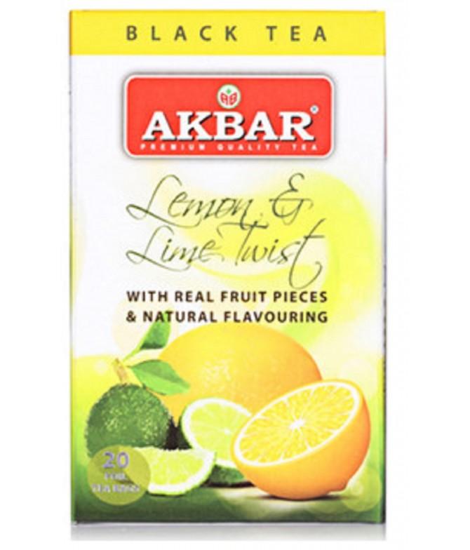 Akbar Chá Preto Lima & Limão 20un