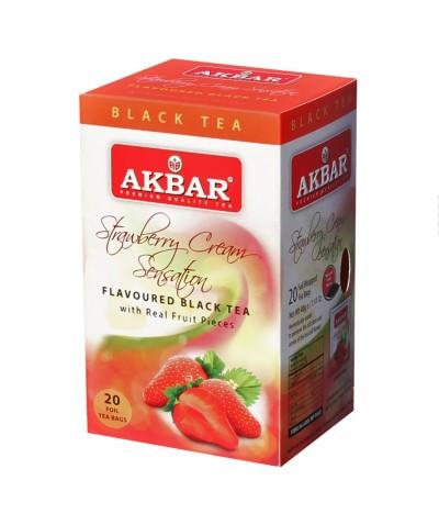 Akbar Té Negro & Fresa 20un