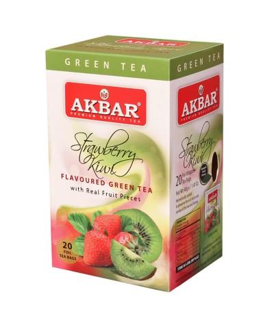Akbar Té Verde Fresa & Kiwi 20un