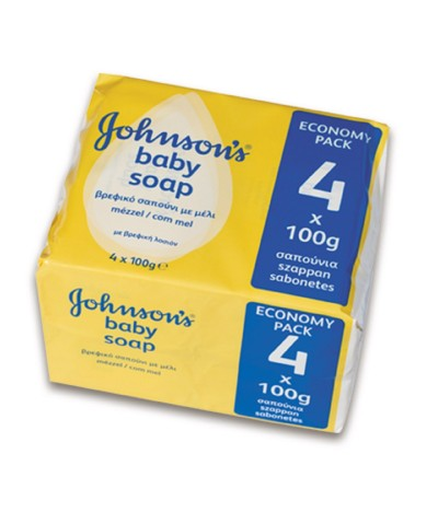 Johnsons Baby Sabonetes Mel 4x100gr