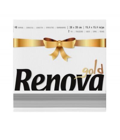 Renova Gold Guardanapo Branco 39x39cm 40un