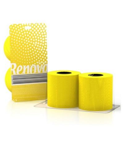 Renova Papel Higiénico Amarelo 2un