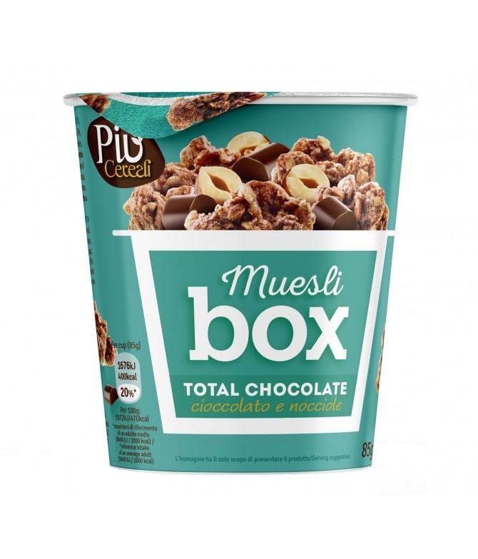 Piu Cereali Muesli Box Total Chocolate 85gr