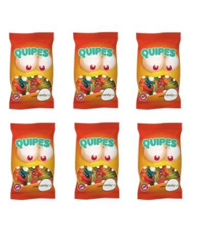 PACK FAMILIA 6 Quipes Gominolas Gusanitos 100gr