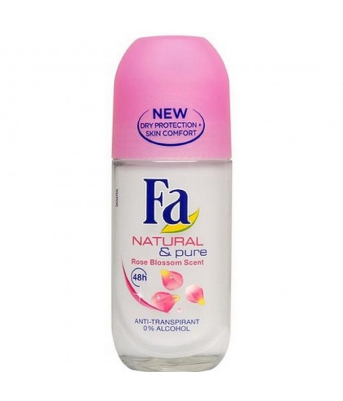 Fa Deo Roll On Natural & Pure 50ml