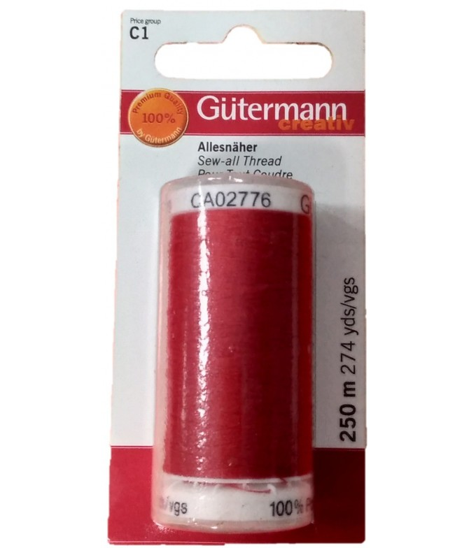 Gutermann Linha de Coser ROJO 640441 1un