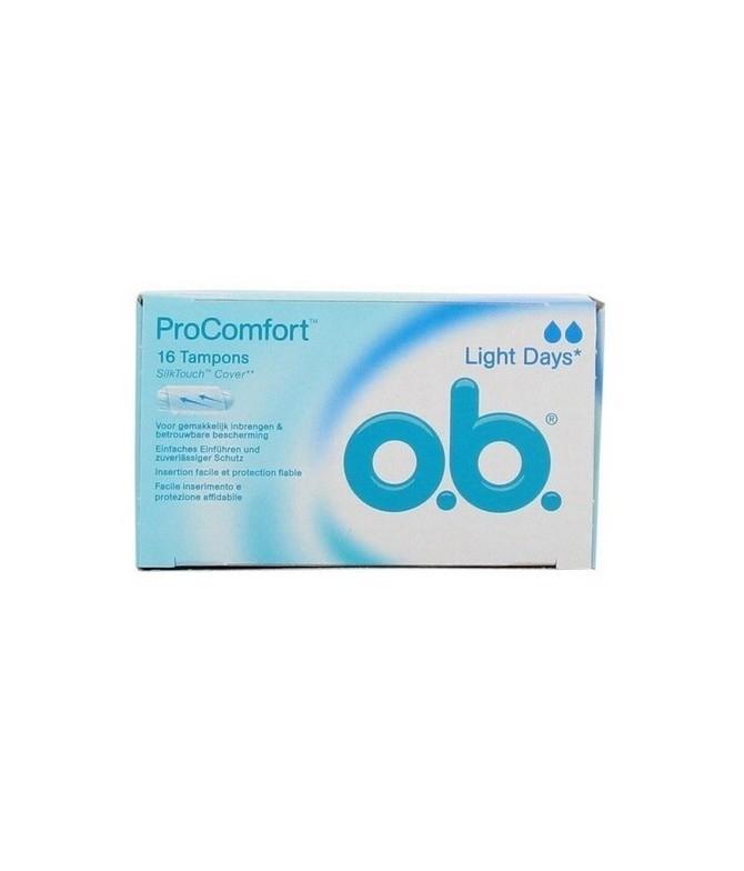 O.B. Tampones Light Days Pro Comfort 16un