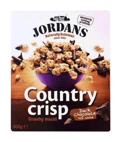 Jordans Country Crisp Cereais & Chocolate Negro 400gr