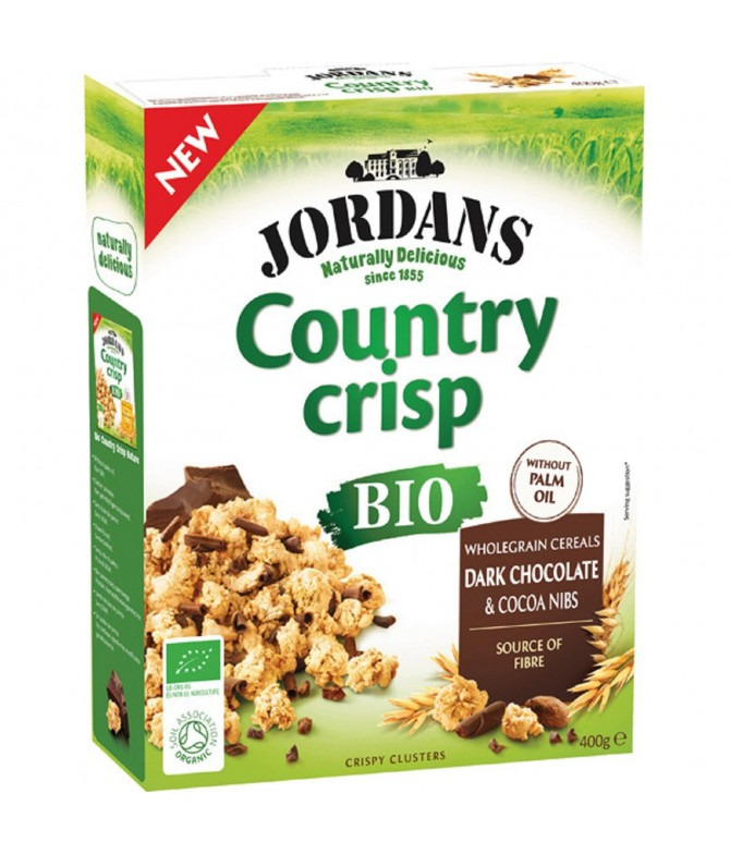 Jordans Country Crisp Cereais & Chocolate Negro BIO 400gr