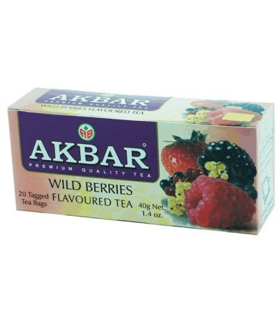 Akbar Chá Preto & Frutos do Bosque 20un