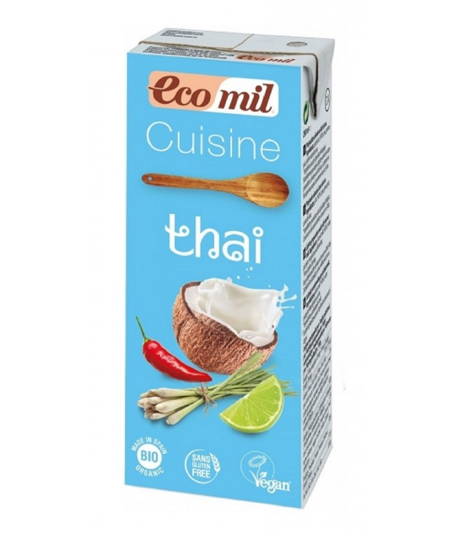 Ecomil Crema Vegetal Culinaria Thai BIO 200ml