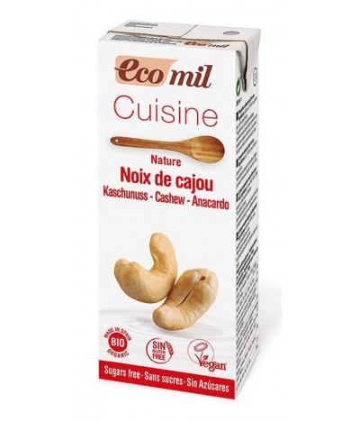 Ecomil Creme Vegetal Culinária Cajú BIO 200ml