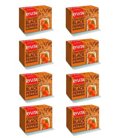 PACK FAMILIA 8 Ryvita Crackers Centeno & Pimienta 200gr