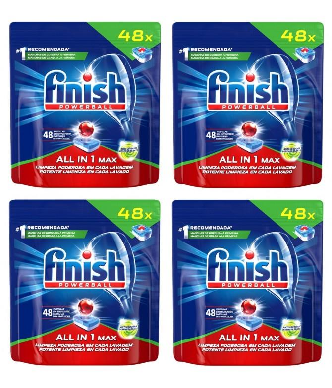 PACK 4 Finish Tudo em 1 Plus Anti-Gordura 48d