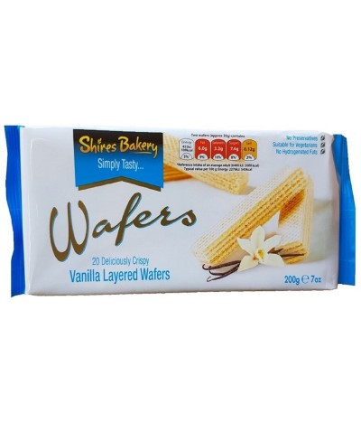Shires Bakery Wafers Baunilha 200gr
