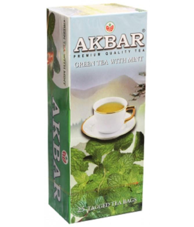 Akbar Chá Verde & Menta 25un