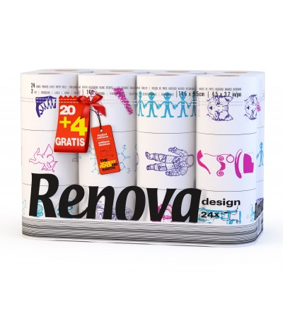 Renova Papel Higiénico Design 20+4un